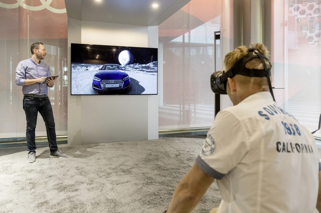 audi vr dealership vive 1024x680 - How Digital Marketing Affects the Way We Buy Cars?