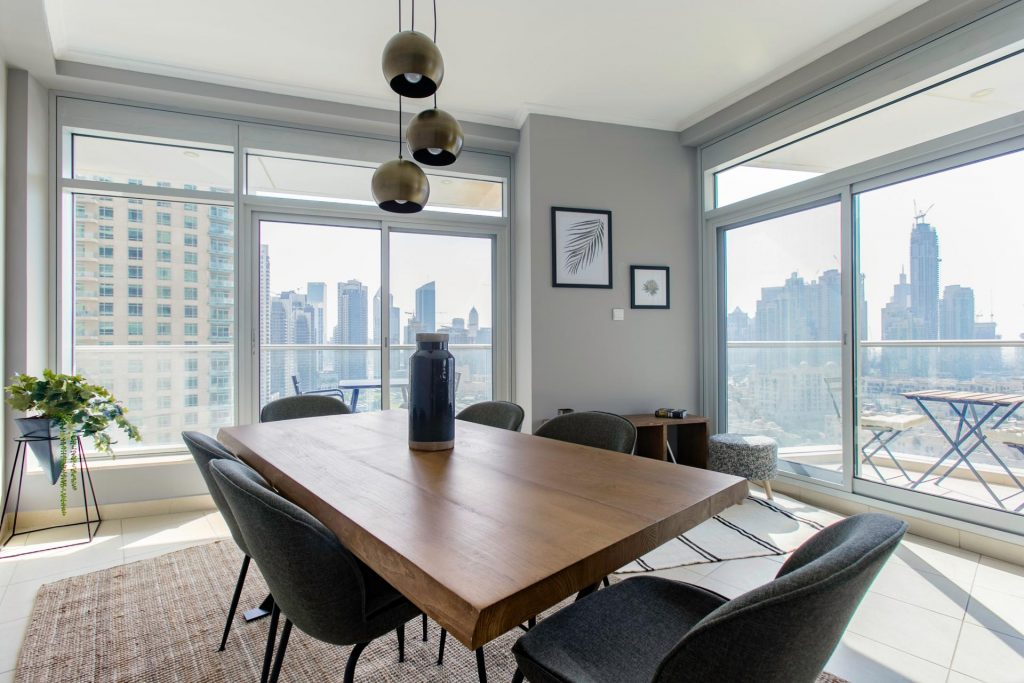 landlord resources blueground furniture dubai dining room 1024x683 - The Differences Between Apartment, Flat, and Condominium in Malaysia